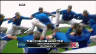 NCAA Baseball: Rain-delay dance-off