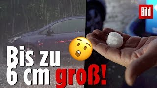 Schwere Unwetter: Hagel Chaos In München