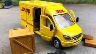 Мультики про машинки. Почтовый фургон, Желтый джип, Полиция и посылки