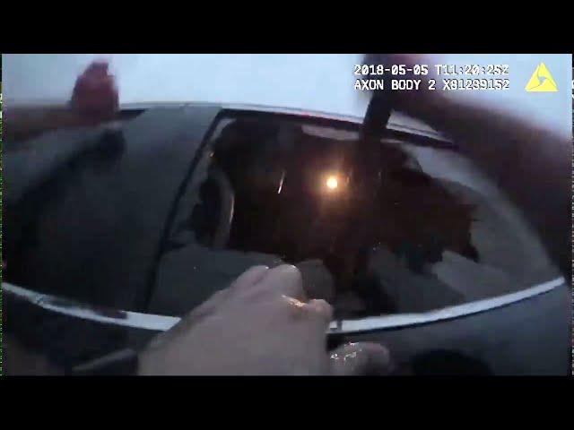 لحظة إنقاذ امرأة محتجزة داخل سيارة غرقت في بحيرة بسبب غفوة أثناء القيادة