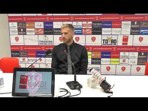Sala stampa Triestina - Padova: Alessandro Malomo
