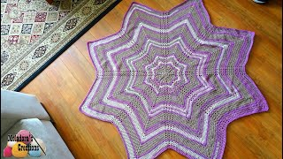 How To Crochet A Star Afghan - 8 Point Star Afghan - Crochet Star Blanket - Right - Crochet Tutorial