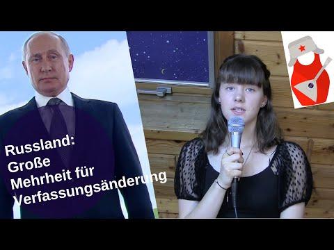Russland: Große Mehrheit für Verfassungsänderung [Video]
