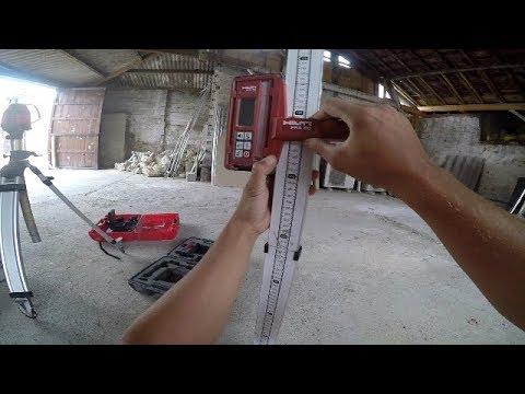 utiliser un laser et mire de chantier faire un trait de niveau 0 - tutoriel N°5