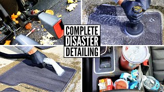 Deep Cleaning a Girl's DIRTY SUV | Nasty Carpet Cleaning and Satisfying Car Detailing!