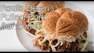 Paula Deens Pulled Pork Sandwich