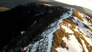 Vol a ski au déco sud du Mont d'Or