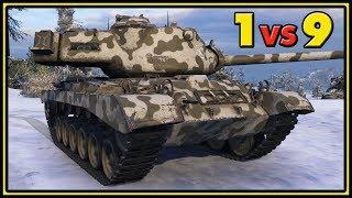 M46 Patton - 1 vs 9 - 12 Kills - World of Tanks Gameplay