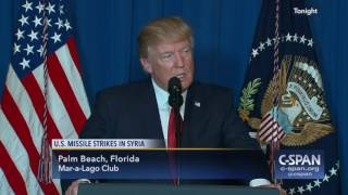 President Trump statement on U.S. Missile Strikes in Syria (C-SPAN)