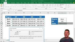 Microsoft Excel Two Way Lookup with Index() and Match()