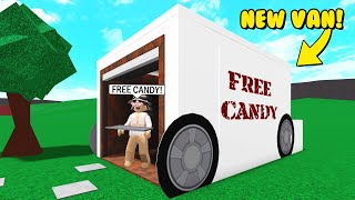 Kidnapping Kids In My NEW Bloxburg VAN! (Roblox)