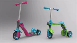 Triratis paspirtukas 2in1 Switch Scooter | Smoby 750603
