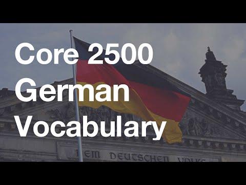 Core 2500 German Vocabulary (Duolingo-based 5.0 hour Listening Practice)