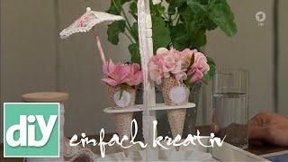 Eiswaffel Etagere| DIY Einfach Kreativ