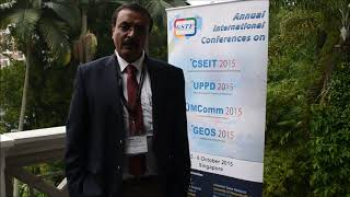 Prof. Subrata Chattopadhyay at UPPD Conference 2015 by GSTF Singapore