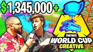 *INTENSE* CIZZORZ WINS $1,000,000+ CREATIVE CUP FINALS! (Fortnite World Cup)