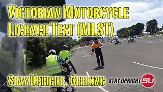 preview picture of video 'Victorian Motorcycle Licence Test - MLST @ Stay Upright Geelong'