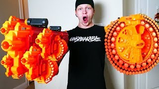 NERF WAR : WORLD'S BIGGEST GUNS! *EXTREME*