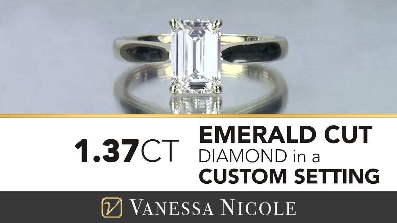1.37ct Emerald Cut Diamond Ring