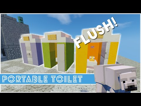 how to make a toilet in minecraft ps4