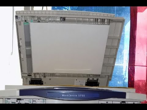 XEROX WorkCentre Scanner Unit & removing the Glass