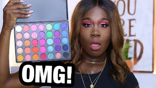 TESTING AMAZON HIGHLY PIGMENTED EYESHADOW PALETTE !