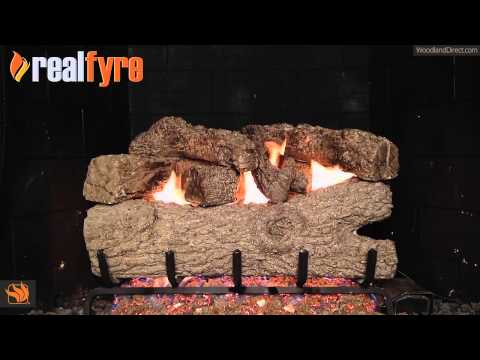 Real Fyre Royal English Oak Vented Gas Log Set