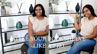 How to STYLE your BOOKSHELVE || 3k GIVEAWAY || Easy Styling Tips || Interior design