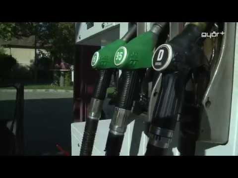 Der Gummischuh das Benzin in den Benzintank