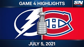 NHL Game Highlights | Lightning vs. Canadiens, Game 4 – Jul. 05, 2021