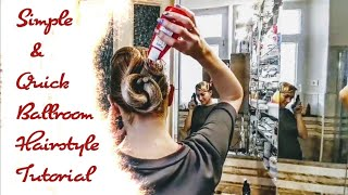 Simple And Quick Ballroom Dance Hairstyle Tutorial