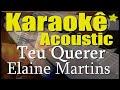 Elaine Martins - Teu Querer (Karaokê Acústico) playback