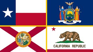 USA States - Learn 50 States of America (Flags and Pronunciation)