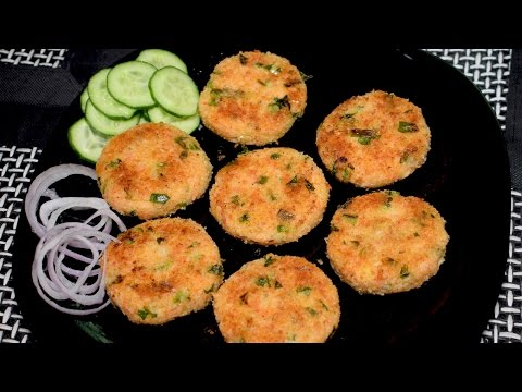 Rice Cutlets Recipe - Vegetable Rice Cutlets with Leftover Rice - Indian Snack Recipe