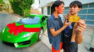I STOLE His Credit Card And Bought A $200,000 Lamborghini..