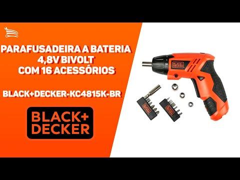 Parafusadeira a Bateria 4,8V NI-CD com Carregador Bivolt Caixa e Acessórios - Video