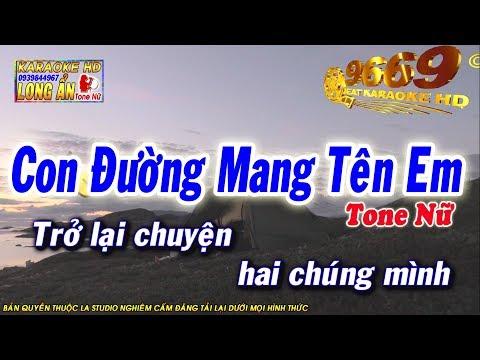 Karaoke Con Đường Mang Tên Em | Tone Nữ beat chuẩn | Nhạc sống LA STUDIO| Karaoke 9669