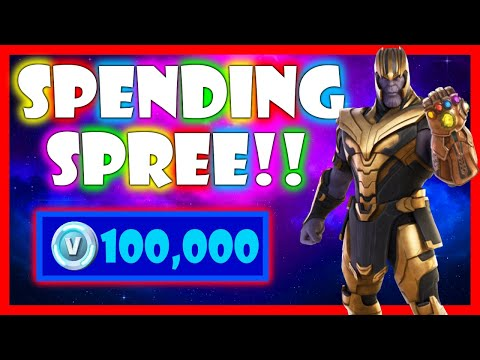 SPENDING 100,000+ V-Bucks in FORTNITE!! (Spending Spree #24)