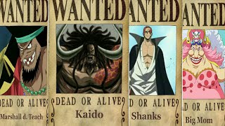 All Yonko's Bounties-One Piece Chapter 903+(Prediction)
