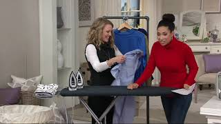 Rowenta Compact Steam Iron with Ironing Pad & Bag on QVC