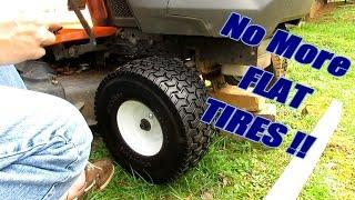 Install Flat Free Tires on Husqvarna Lawn Tractor