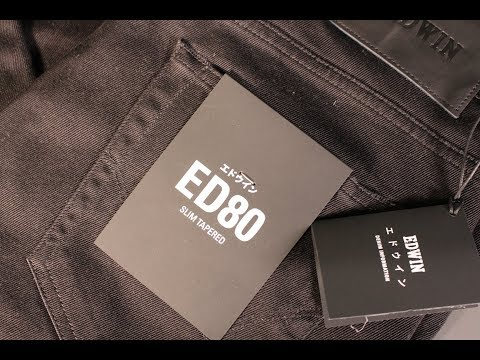 Slim Tapered Black Denim: EDWIN ED80