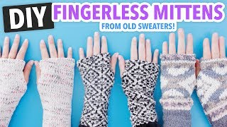 DIY Fingerless Mittens Made From Old Sweaters! - HGTV Handmade