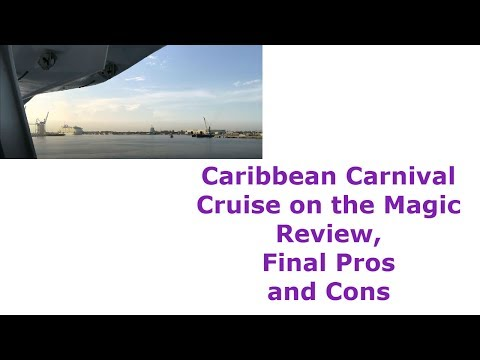 Caribbean Carnival Cruise on the Magic Review, Final Pros and Cons