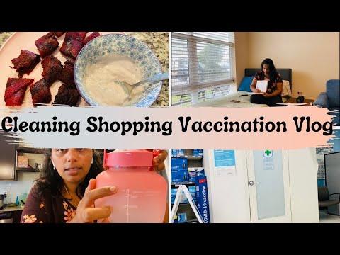 Covid -19 Vaccination | Cleaning | Shopping Vlog |USA Tamil Vlog