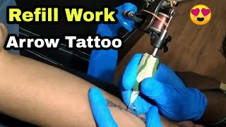 Refill Work Arrow Tattoo ➡ // Touch Up Or Finishing Work