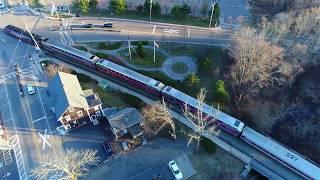North Scituate MBTA Train Drone Flight - 27 - DJI Phantom 4 Advanced