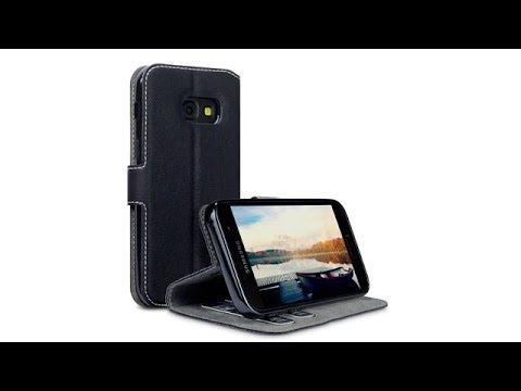 Samsung Galaxy A3 2017 Dezente Portemonnaie-Hülle Farbe: Schwarz