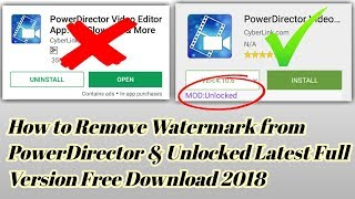How To Remove Watermark In Powerdirector 2018 | Unlocked Latest Full Version Free Download 2018