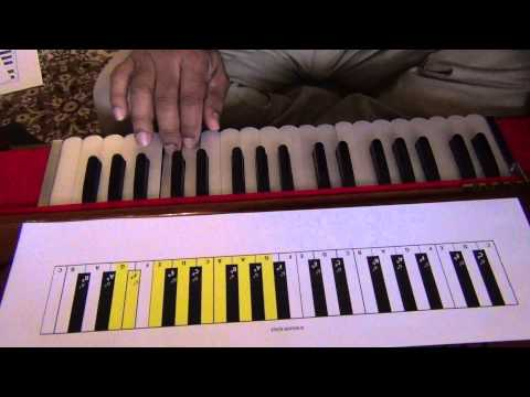 Harmonium lesson for beginners.